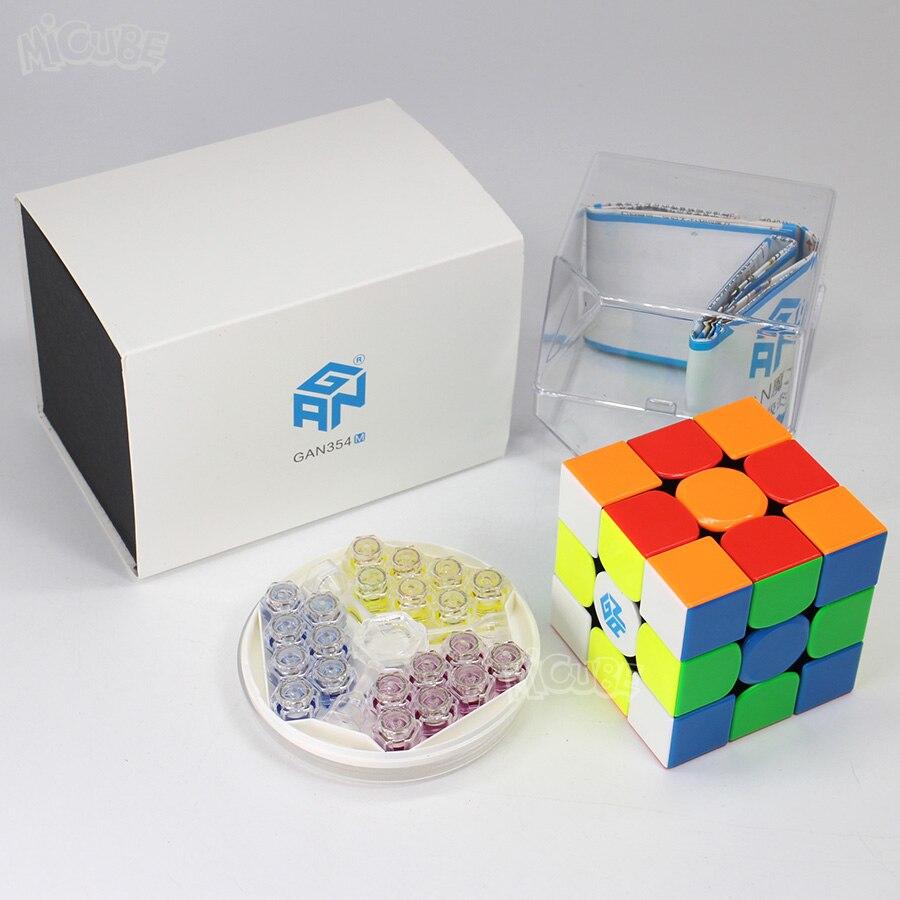 GAN354M Cube magnétique 3x3x3 Cube magique vitesse 3x3 Cubo Magico GAN 354 M sans autocollant GAN 354 M Puzzle Twist jouets pour enfants - 6