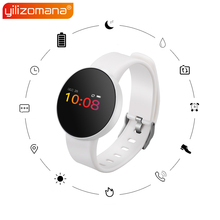 Yilizomana Smart Wristband Steps Rate Heart Rate Monitor Call Message Reminder LED Screen Smart Watch for Android IOS цены онлайн