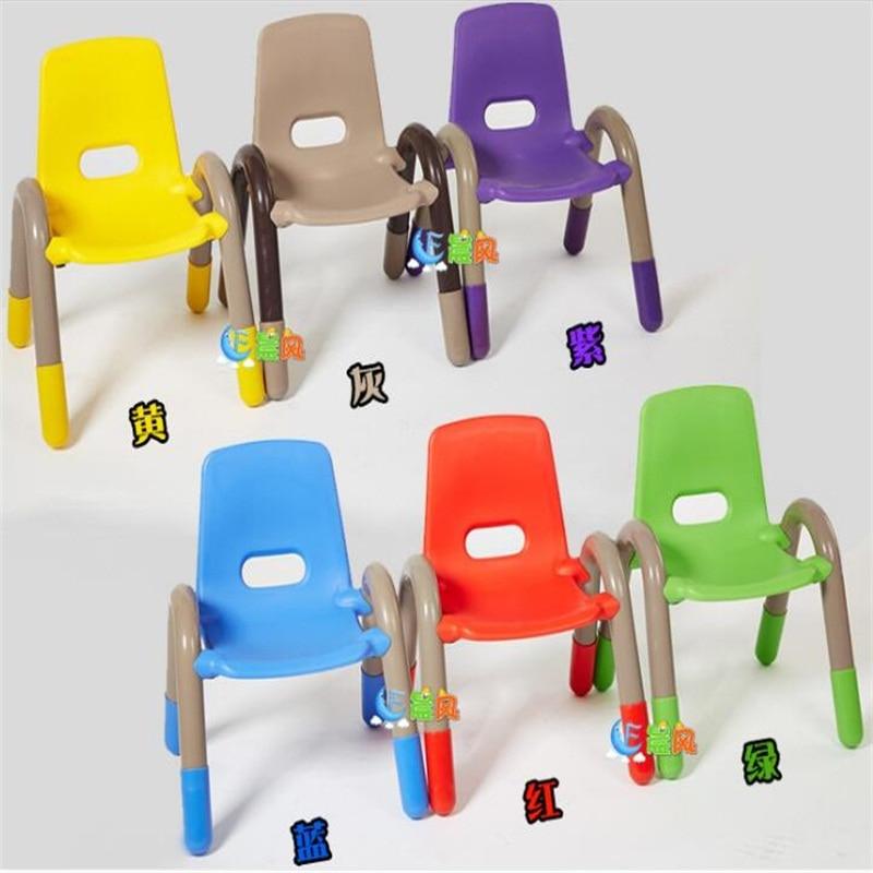 39*38*52cm Kindergarten Children Backrest Chair Small Plastic Baby Armchair