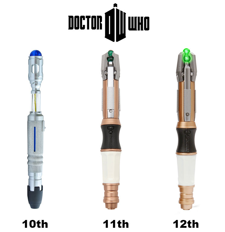 sonic screwdriver 10th 11th 12th official doctor who sonic screwdriver in stock same day shipping 10pcs