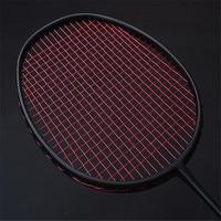 Top Quality 1 Pcs 30LBS Black VT80 Carbon Badminton Rackets Hard Badminton Racquets 4U 82G Amateur Intermediate Senior Trainers