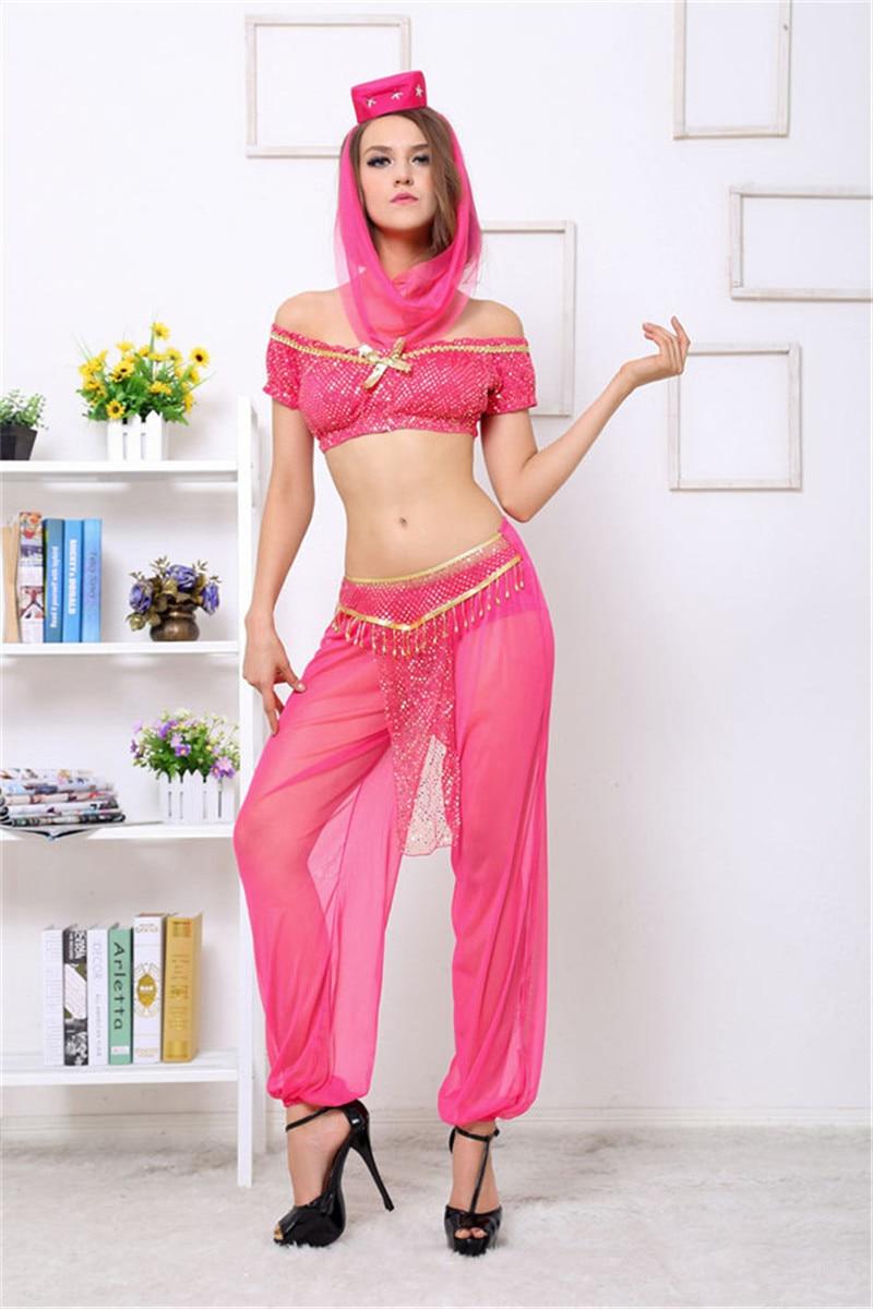 sexy adult women belly dancer dress arabic dance costume genie