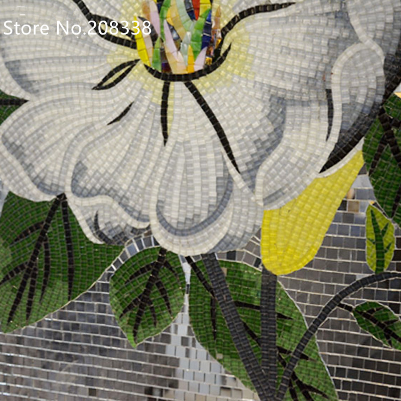 Papillon danse fait à la main en verre mosaïque tuile Art Mural décor - 3