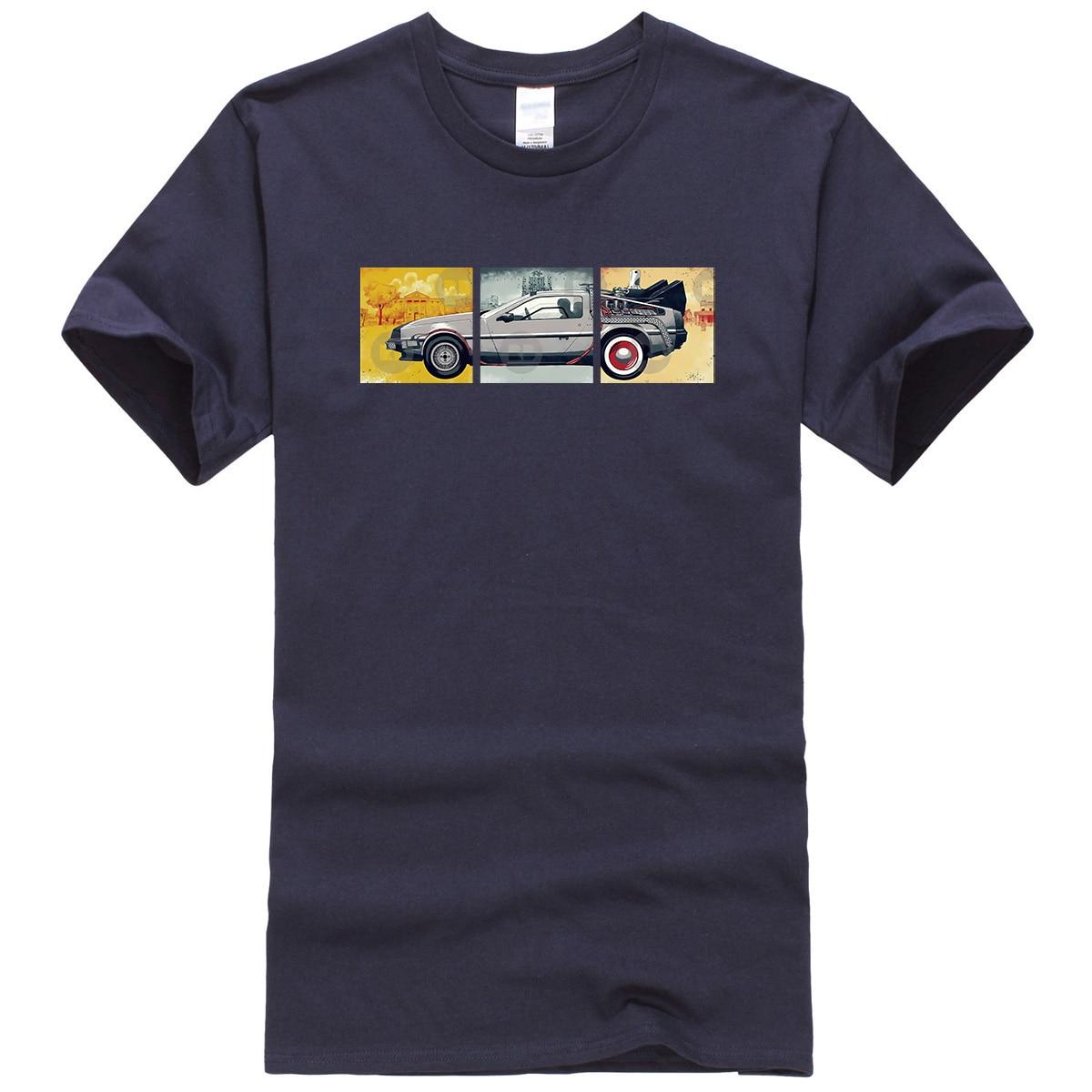 Back To The Future Print T Shirt Male Summer Short Sleeve Tops 2019 Fashion Movies Series Men's T-shirts Hip Hop Top Tee Shirts