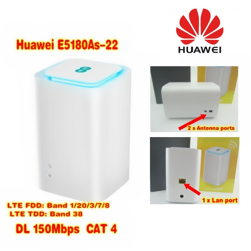 все цены на Huawei EE logo E5180As-22 LTE 4G WiFi Hotspot Router up to 32 users FDD800 MHz/900Mhz/1800 MHz/2100Mhz/2600 MHz TDD2600mhz онлайн