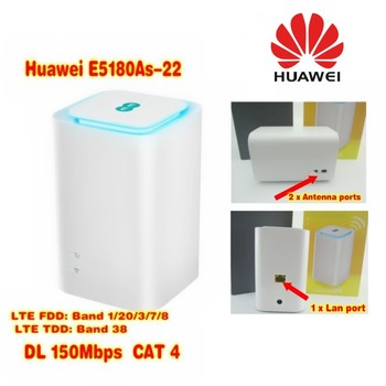 Huawei EE logo E5180As-22 LTE 4G WiFi Hotspot Router up to 32 users FDD800 MHz/900Mhz/1800 MHz/2100Mhz/2600 MHz TDD2600mhz