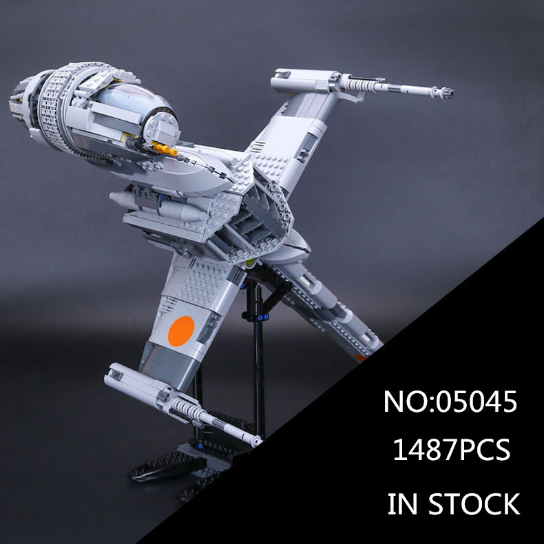 05045 Star 1487pcs Genuine War Series The B Starfighter wing Educational Building Blocks Bricks Toys 10227 for Gifts mode for the duration the war years