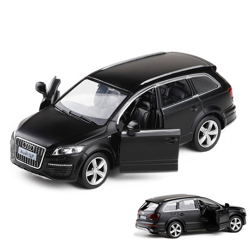 1PCS High Simulation Q7 SUV V12 Engine  Model Car 1:36  Diecast Model Toy With Pull Back For Kids Gift Toys V018