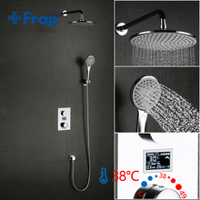 Frap Luxe Douche Water Dynamische Digitale Intelligente Display Douche Kraan LED Digitale Display Thermostaat Douche Tap GLD1133 F