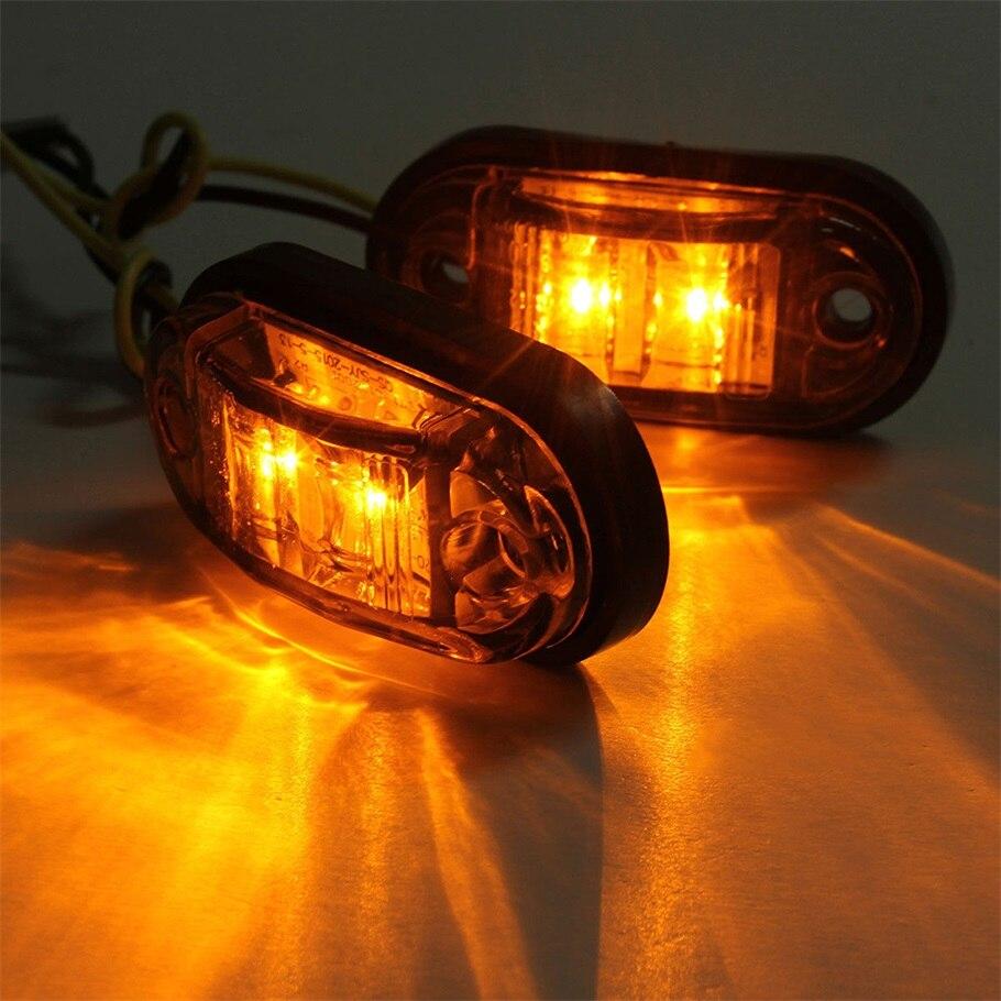 2 stücke Piranha LED Seite Marker Blinker Licht Lampe Für Auto Lkw Anhänger 12//24 v Bernstein Heißer Verkauf