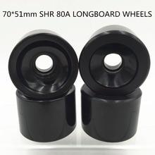 4 ピース/セット 70 ミリメートルブランクロングボードの車輪スケートボードの車輪ロングボードストリートホイールソフトホイールスピード CUIRSER SHR 80A