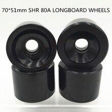 Roues de longboard vierges de 4 pièces/ensemble 70MM roues de Skateboard roues de rue de LONGBOARD roues molles pour le CUIRSER de vitesse SHR 80A