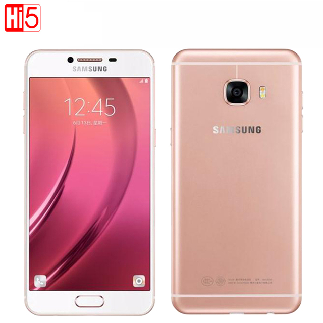 Samsung galaxy c7 мобильный телефон 5.7 дюймов 4 ГБ ram 32 ГБ/64 ГБ rom Octa Ядро Dual SIM 2.0 ГГц 16MP Камера 3300 мАч Android LTE