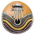 Hot! 7 Teclas de Piano de Polegar Kalimba Sintonizável Casca de Coco Pintado Instrumento Musical Nova Venda