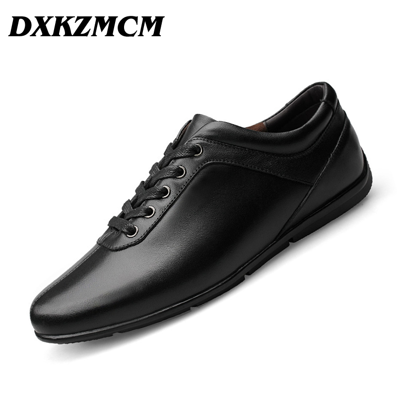 Cuir véritable hommes chaussures décontractées, mode Style cuir hommes chaussures, Designer pour hommes-in Chaussures décontractées homme from Chaussures    1