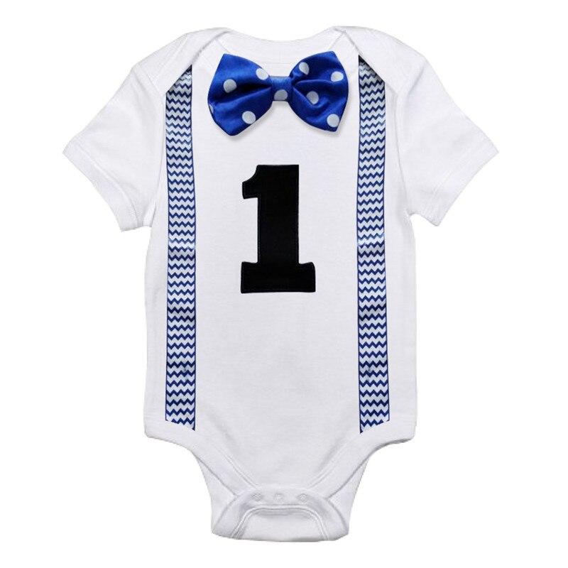 Body para bebê, roupas para o primeiro aniversário, estampa de meninos, suspensório, macacão para crianças pequenas, peça única, roupas infantis de verão