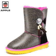 APPLE womens winter warm snow boots Hot Sale australia boots fashion Flat with women's high boots