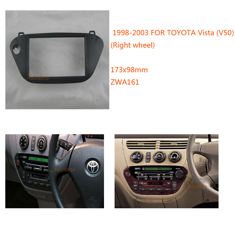 Car radio fascia panel dash kit set double DIN for TOYOTA Vista (V50) (Right wheel) Stereo Fascia Kit ZWNAV 11 161|car radio fascia|stereo fascia|dash kit - title=
