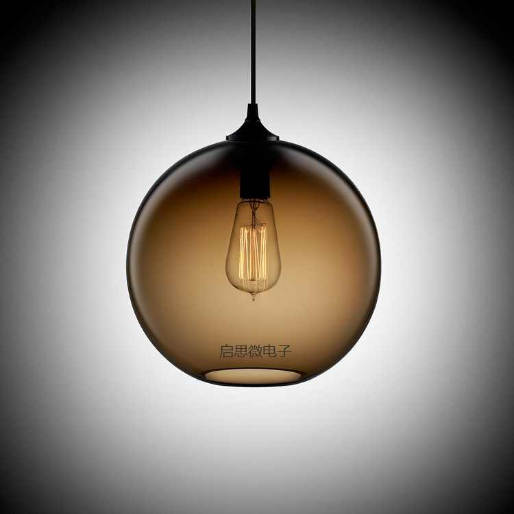 ペンダントライトダイニングルームペンダントランプ近代カラフルなレストランコーヒー寝室照明鉄+ガラスe27ホルダー