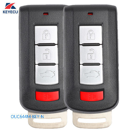 KEYECU 2 PCS Remote Key Fob 315MHz for Mitsubishi Lancer Outlander 2008 2016 OUC644M KEY N