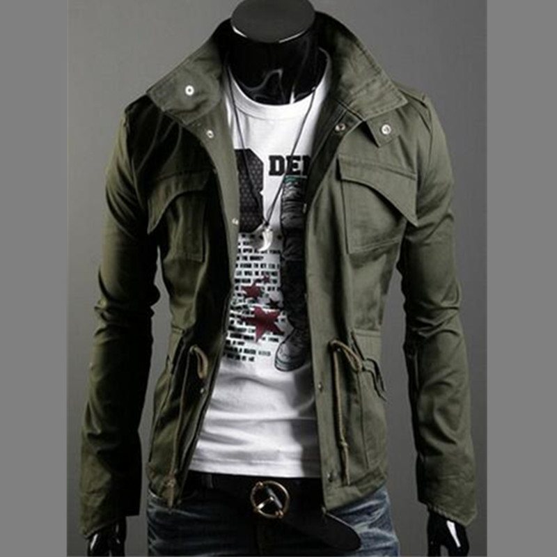 2019 Military Style Jackets For Men Jackets And Coats Turn Down Collar England Style Jacket With Epaulets
