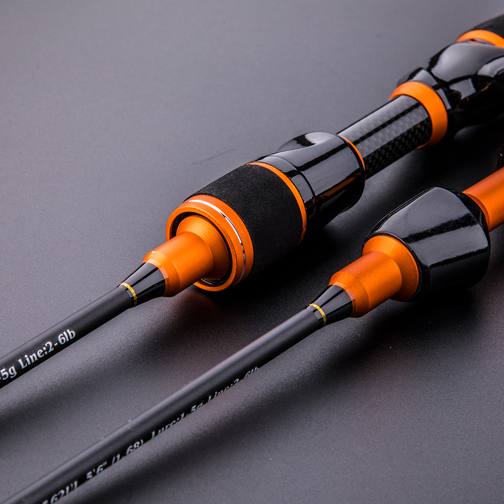Heronking carbon ul spinning rod 1.68m1.8m ultralight spinning rods ultra light casting spinning fishing rod vara de pesca