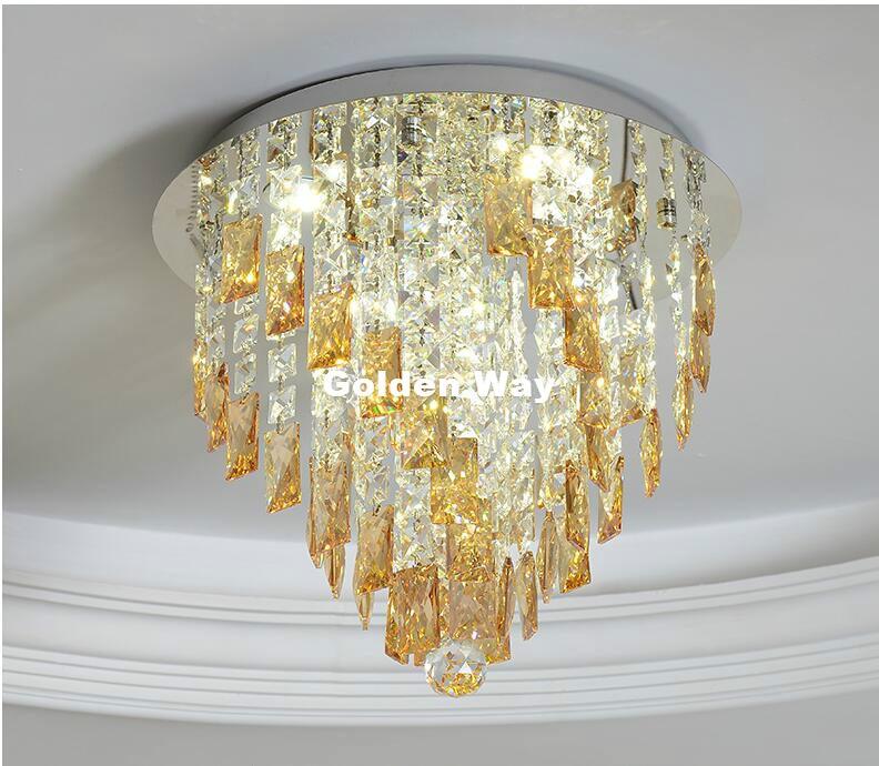 Бесплатная доставка Кристалл Потолочные светильники коридор светодиодный потолка хрустальные светильники Гостиная Luminarias Para Sala plafon Потоло