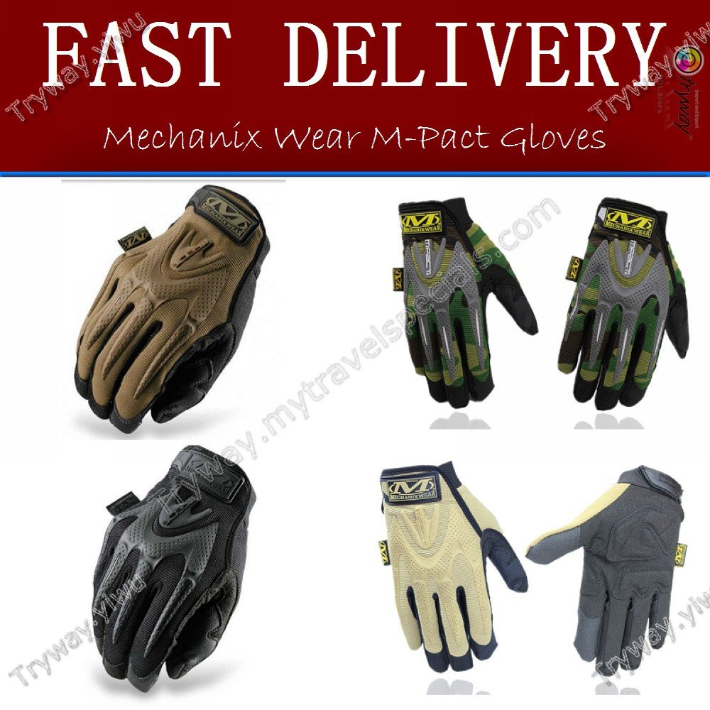 Leather work gloves m pact 2 - Mechanix Wear M Pact Full Finger Gloves Outdoor Racing Fastfit Mens Breathable Army Combat Covert Tactical Hunting Gloves