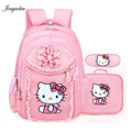 Hello Kitty Girl's School Bags Cartoon Pattern Kid Backpack Children School Backpack Girl Bag