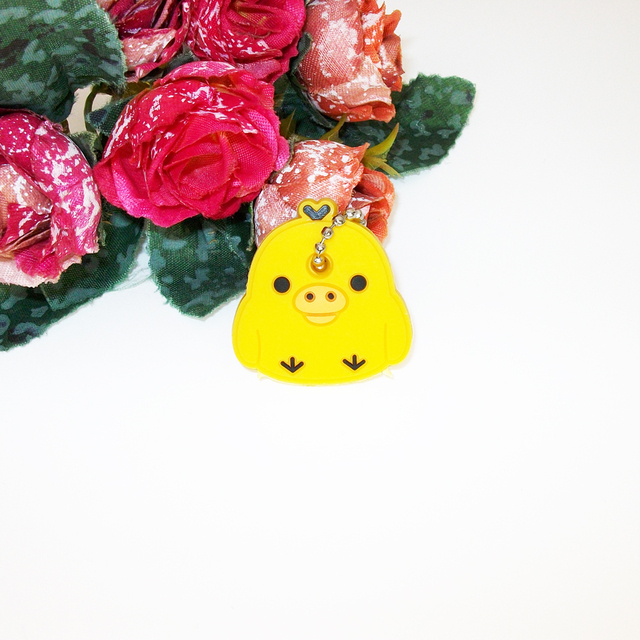 f5ff727b032c Anime Silicone Cat Key Cap Minion Key Chain Women Bag Charm Key ...