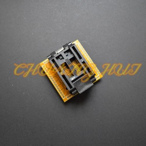 QFP64 TQFP64 LQFP64 prise de Test IC51-0644-692 prise de Test/pas de prise IC = 0.8mm taille = 14x14mmQFP64 TQFP64 LQFP64 prise de Test IC51-0644-692 prise de Test/pas de prise IC = 0.8mm taille = 14x14mm