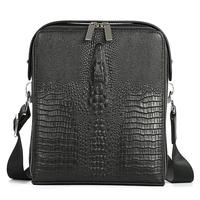 Genuine Leather Men S Bags Crocodile Grain Crossbody Bag Cowhide Shoulder Bag Designer Men Messenger Bags