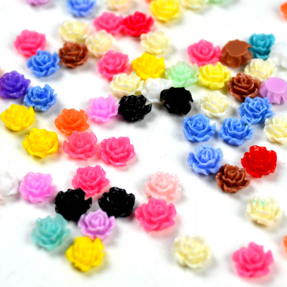 Resin rose 3d flower nail art supplies acrylic flowers for for Acrylic nail decoration supplies