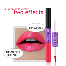 O.TWO.O Hot Sale Lip Gloss Romantic Colorful Double-end Long-lasting Makeup Cosmetics Matte Lip Gloss & Lip Oil 2 in 1