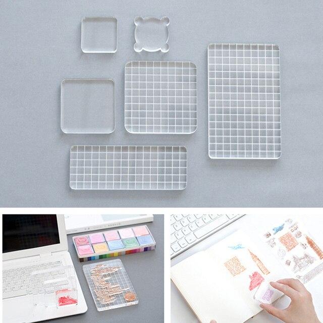 אקריליק ברור חותמת בלוק ידית ביול אלבום תמונות דקור חיוני Stamping כלים עבור רעיונות DIY אמנות בולים עושים