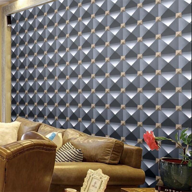 beibehang stereo modern abstract plaid waterproof checkout wallpaper Internet cafe beauty salon nail shop restaurant wallpaper sana beauty cafe