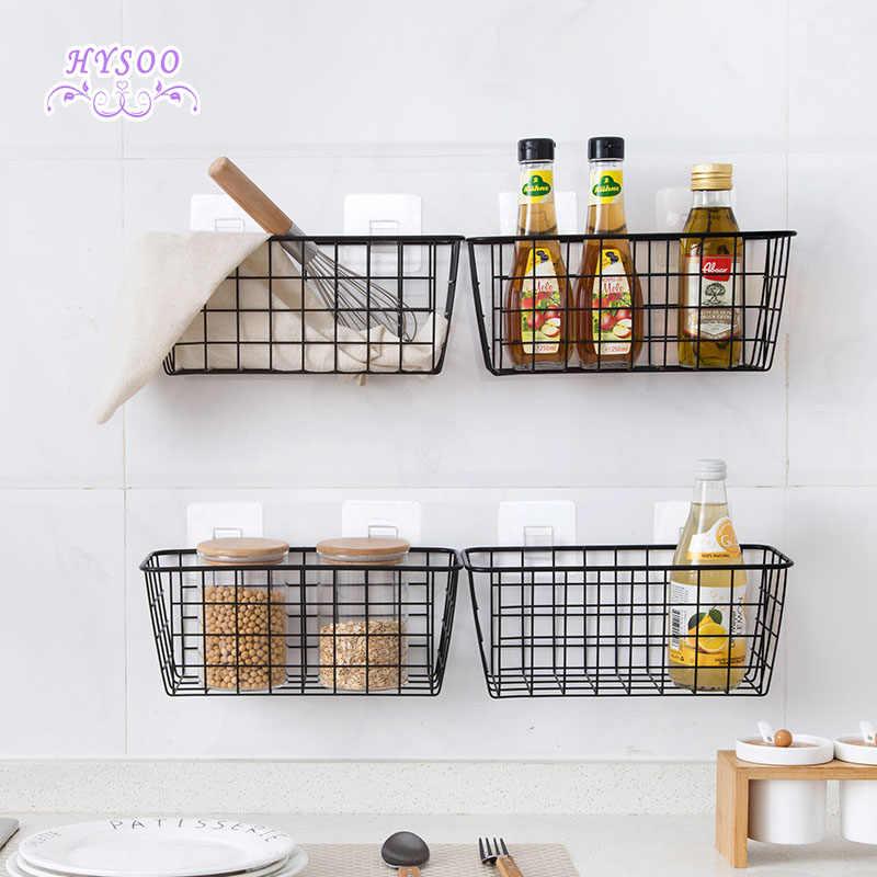 Kitchen Seasoning Hanging Basket Desktop Storage Basket Bathroom  Rectangular Storage Box Wall Mount Shelf