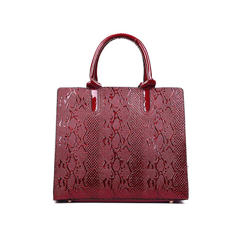 Patrón de serpiente señora bolsos Europa y los Estados Unidos moda alta calidad gran capacidad Casual salvaje bandolera