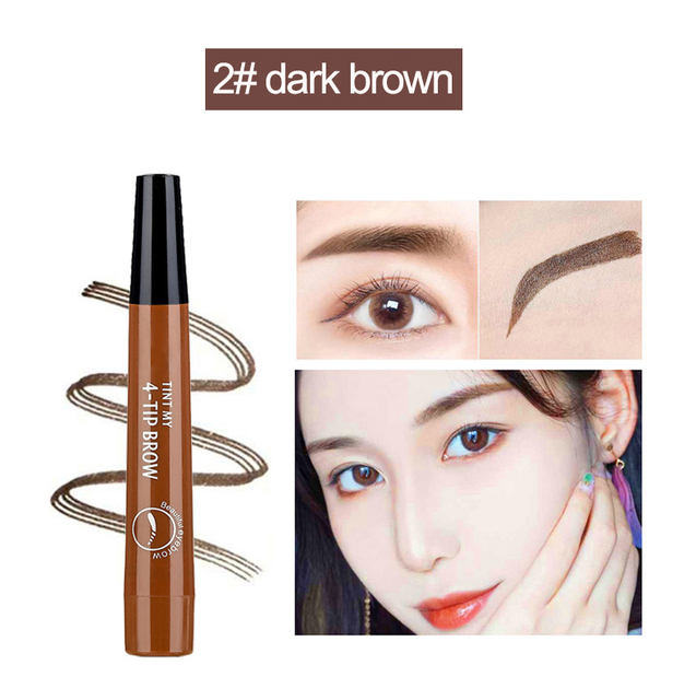 Microblading Eyebrow Pen Waterproof eyebrow shaping Eyebrow Tattoo Pencil henna eyebrow easy wear eye makeup Liquid Eye Brow Pen 3