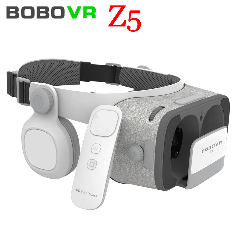 NEW Global Version BOBOVR Z5 Virtual Reality Headset VR Box 3D glasses Cardboard for Daydream smartphones Full package + GamePad