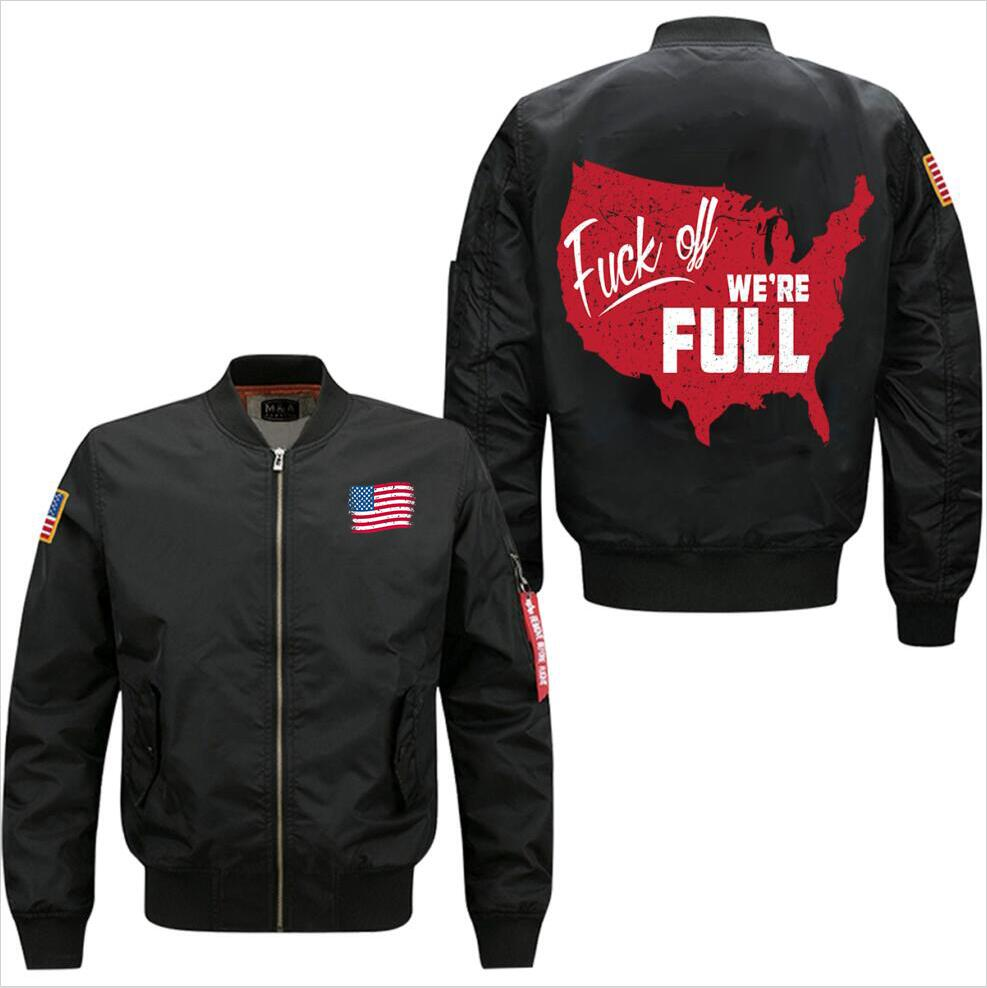 2018 new We Are Full spring autumn men's leisure jacket collar code Air Force pilots jactet