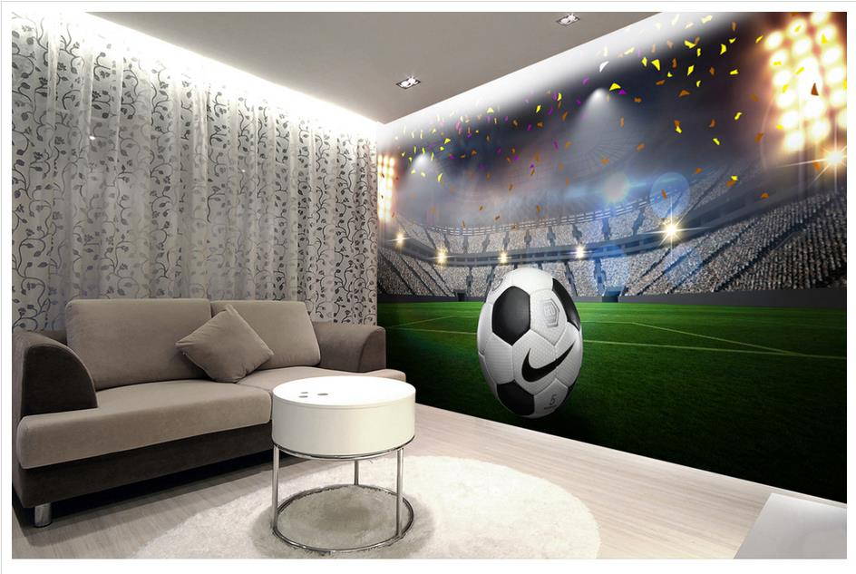 high end custom 3d photo wallpaper 3d wall murals wallpaper hd football field 3d wall decoration. Black Bedroom Furniture Sets. Home Design Ideas