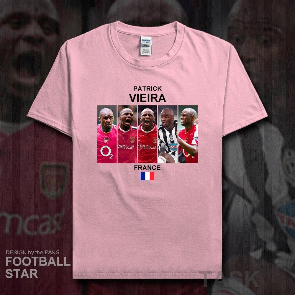 more photos 9d1d6 10946 Patrick Vieira t shirt men jersey French footballer star ...