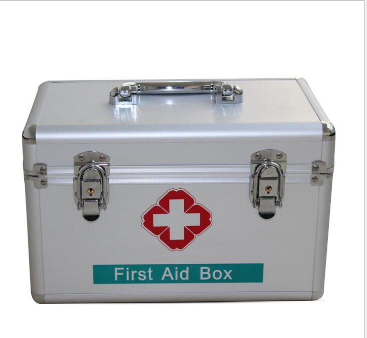 8888--- Aluminum Alloy safety box household medical home box first aid box