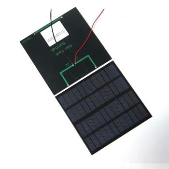 Buhebhui 12V 3W Mini célula Solar + Cable paneles solares policristalinos para cargar batería de 9V DIY Sistema Solar 145*145MM 2 unids/lote