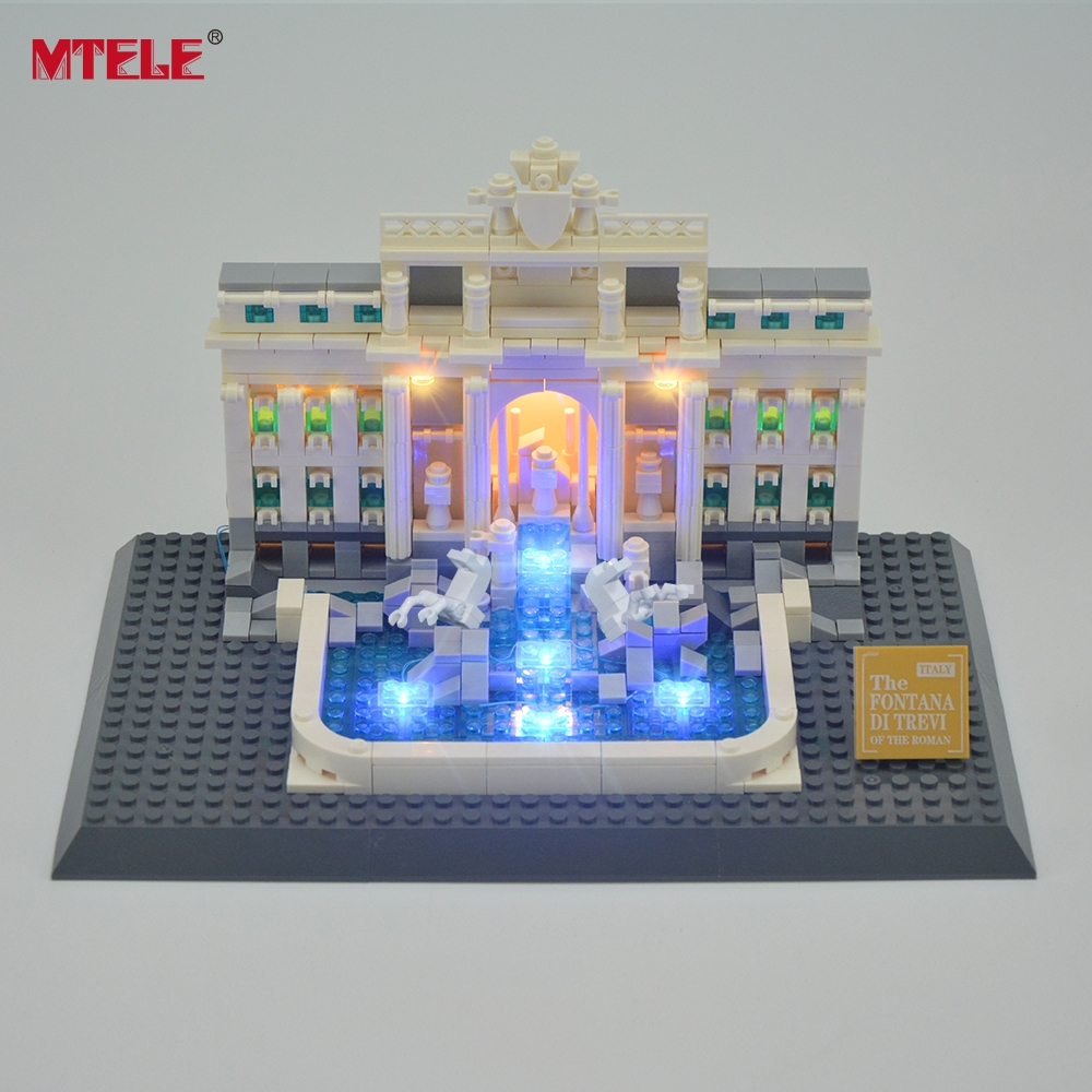 MTELE Brand LED Light Up Kit Untuk Trevi Fountain Architecture Siri - Mainan pembinaan - Foto 1