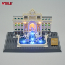 MTELE Brand LED Light Up Kit For Trevi Fountain  Architecture Series Ligh Set Compatible With 21020