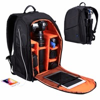 PULUZ Outdoor Portable Waterproof Scratch proof Dual Shoulders Backpack Camera Bag, Upgrade Version