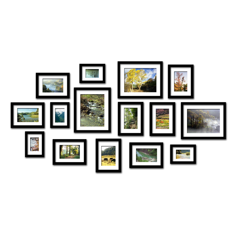 Гостиная висит 15 коробка фото стены Рамки стены Комбинации Спальня Винтаж творческий фото стена Европейский стены