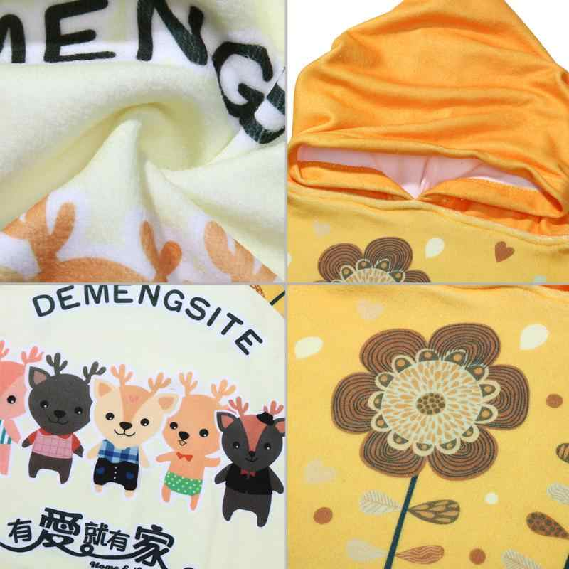 New Cute Children Beach Bath Towel for Children Cartoon Print Hooded Boys Girl Baby Bath Towel Superfine Fabic Bathrobe